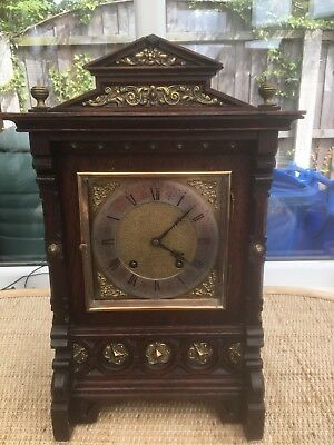 Stunning Oak Cased Lenzkirch Ting Tang Bracket Clock