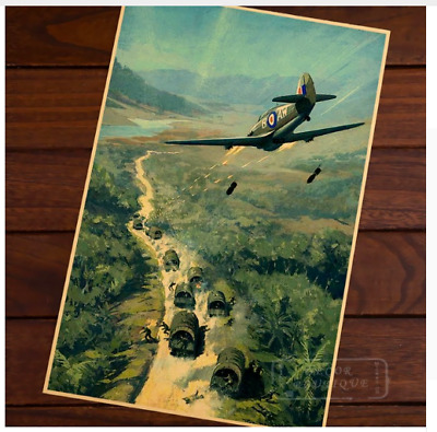 Wall Poster Hanging Picture Vintage Retro Propaganda WW2 World War Air Force Two