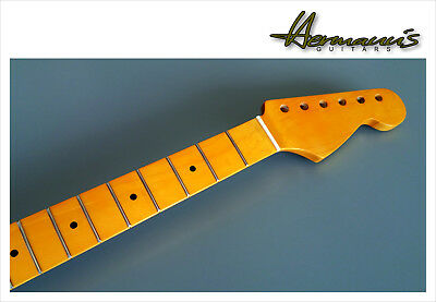 One Piece Canadian Maple Stratocaster Neck, 22 Jumbo-Frets, High Gloss Vintage
