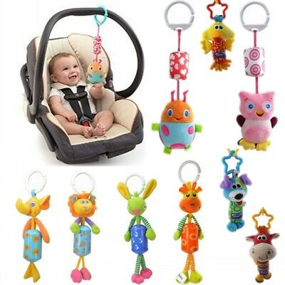 Newly Baby Kids Rattles Doll Handbell Car Pram Stroller Hanging Pendant Soft Toy