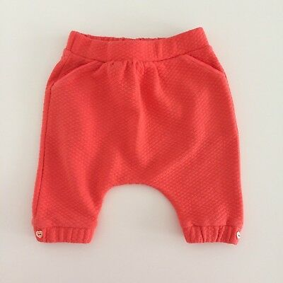 Baby Girls Boys Unisex TED BAKER Orange Baggy Pants Trousers Size 0-3 Months