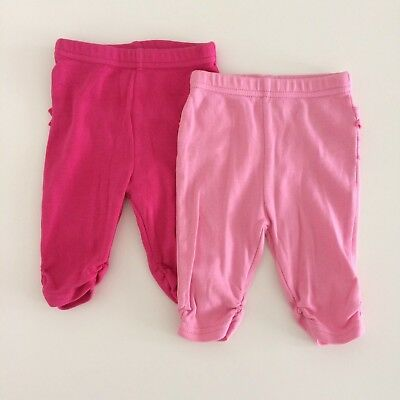 Set Of Two BLUE ZOO Baby Girls Pink Leggings Size 0-3 Months