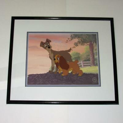 Lady and the Tramp LOVE ON THE HORIZON Sericel Animation Cel Art Walt Disney