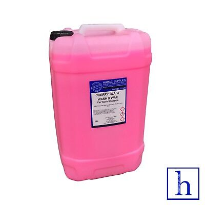 CHERRY CAR WASH & WAX PROFESSIONAL SHAMPOO 25 Litre Drum Car Vehicle 25L - HUMAC