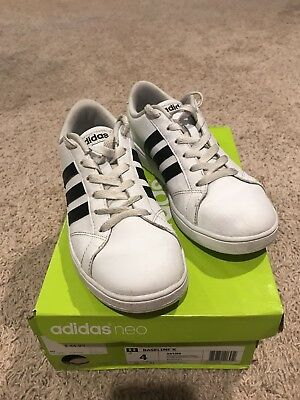 d06fa7dac5b ADIDAS NEO BASELINE K Sneakers Kids Size 4 Shoes W Box -  20.00 ...