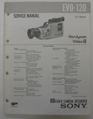Service Manual For Sony EVO-120 8MM Camcorder