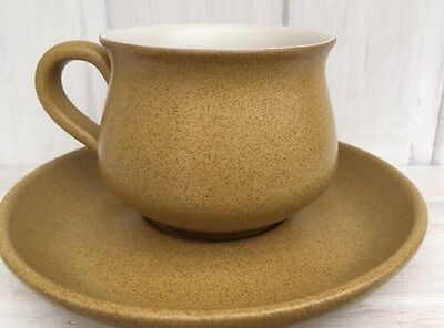 Vintage 1960's Denby Ode Mustard Cup And Saucer