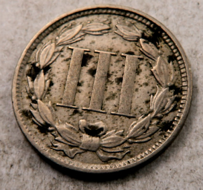 1881 Three Cent Coin (3 Cent) // AU-XF// (T3210)