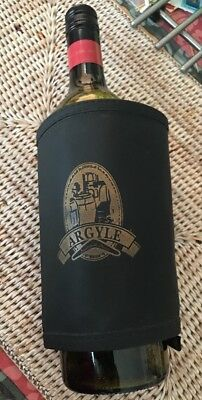 Argyle Wrap Around Wine Bottle Cooler Insulated Wine Cooler Father's Day Gift