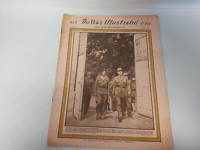 The War Illustrated No. 185 Vol 8 1944 July 21st Bayeux D-Day Cameroon Burma