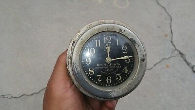 Keyless Rim Wind - Rim Set 8 Day Vintage Automotive Clock 1915 - 1928  Nash