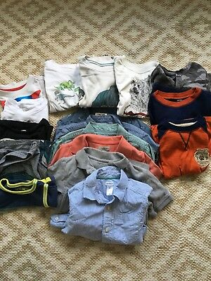 Boys Lot Sz 5 5t Shirts Carters Gap Polos Kids Clothing 17 Items