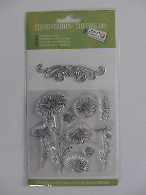 "Clear Stamp/Cutting Die Set ""Sommerblumen"" - OVP"