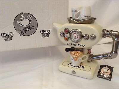 Lge Teapottery Swineside Novelty Collectable Teapot Expresso M/c Boxed Condtion