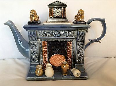 Cardew Collectable Large Novelty Teapot Titan Classical Fireplace Grt Condition