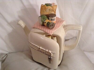 Cardew Collectable Novelty Large Fridge Teapot,filled With Food,lovely Condition
