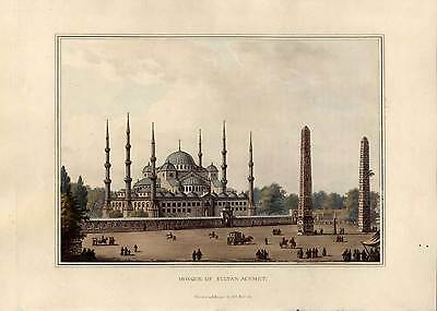 Sultan Ahmed Moschee-Istanbul - Aquatinta - Bowyer-Luigi Mayer,1810