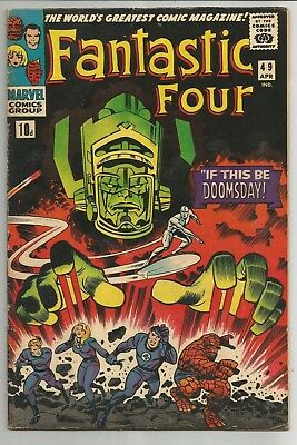 Fantastic Four #49 - 1st Full Galactus! 2nd Silver Surfer! 3.5 - 4.5 est grade