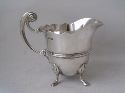 Antique Victorian Chester 1900 Solid Sterling Silver Cream Jug/ H 8.8 cm/ 110 g