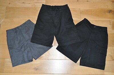 x3 pairs boys school shorts Age 6-7 years, Next, George, Mothercare bundle