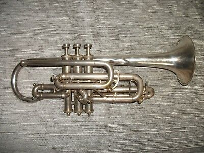 York-made Henri Gautier Virtuoso Cornet w/ gold wash bell. Powerful bright sound