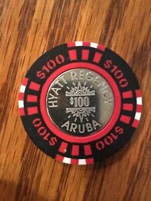 $100 Gaming Chip From The Hyatt Regency Casino Aruba
