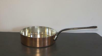 FRENCH PROFESSIONAL VILLEDIEU COPPER FRYING/SAUTE PAN 24 CM 1.8kgs (3.96lbs) 2MM