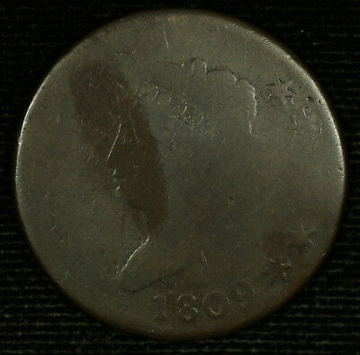 Classic Head Large Cent.1809 AG. S-266. Lot # 9018-90-09