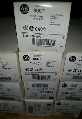 Lot Of 10 Allen Bradley 800T-Qh10A New In Boxes