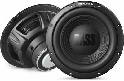 Alpine BassLine Series 10 Inch 750 Watt 4-Ohm Car Audio Subwoofer | W10S4 (Pair)