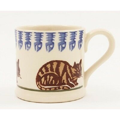BRIXTON POTTERY NEW HANDMADE 250ml POTTERY MUG - Tabby Cat