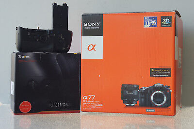 Sony a77 SLT-A77V Digital SLR Camera w/ Lens/Accessories + Vertical Battery Grip