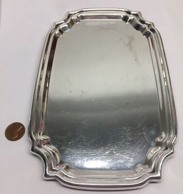 Vintage Sterling Silver Platter by Poole 364