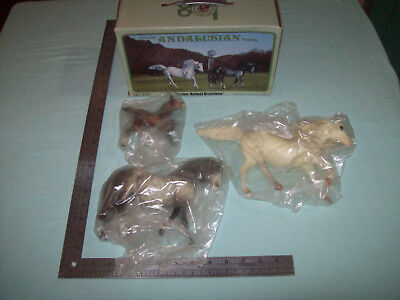 Original Breyer Horses Classic Andalusian Family Stallion Mare & Foal In Box