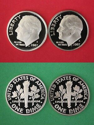 2009 S Silver /& Clad Proof Roosevelt Dimes With 2x2 Cases Combined Shipping