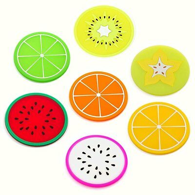 Lovely Fruit Coasters for Drinks 7 Pieces/Set
