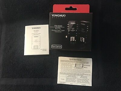 Yongnuo YN-622C CANON transceivers (pair) - Mint Condition