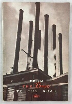 Orig 1935 Ford Car Auto Trade Catalog Rouge Plant Dearborn Michigan