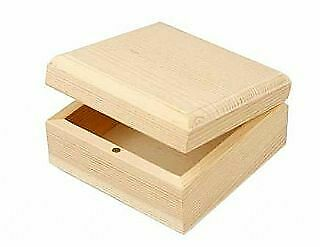 8 Basic Wood Boxes to Decorate 9x9x5cm | Wooden Boxes for Crafts