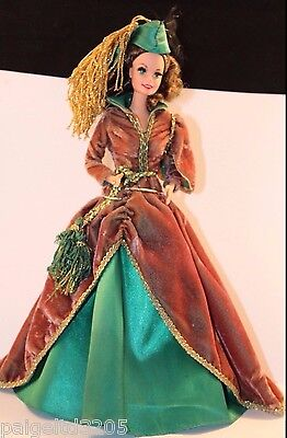 1994 Gone with the Wind Scarlett O'Hara (Vivien Leigh) Doll in Brown Dress -VTG!