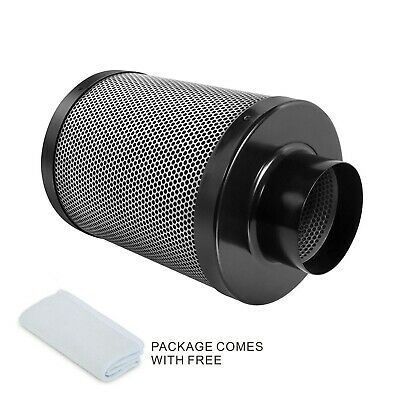 "Hydro 4"" 6"" 8"" Activated Carbon Filter Air Odor Control Scrubber Inline Exhaust"