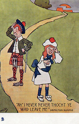 Early Tuck's postcard - 'An' I never thocht ye wad.......- artist Hamish