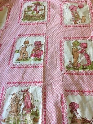 Holly Hobbie Sheet- Great Condition- Patchwork Pink