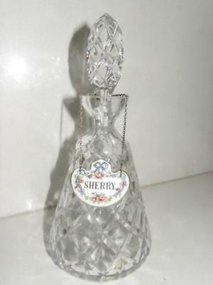 Crystal Cut Glass Pineapple design Small Decanter- made in England
