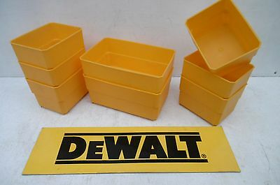 Set Of 8 Dewalt Containers Taken From A Ds150 Toughcase
