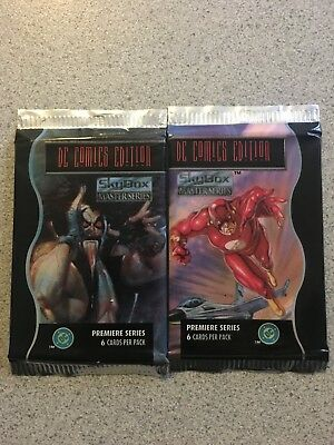 1994 SkyBox DC Masterpieces Trading Cards - 2 Unopened Packs