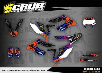 KTM graphics FREERIDE decals kit SCRUB 250 350 & ELECTRIC 2012 - 2018 '12 - '18