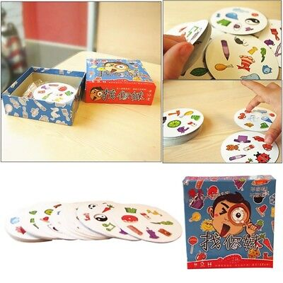 1Pc Spot It Find It Board Game Cards Portable Fast-Paced Observation Toy New