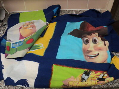 Childs Baby Cot Duvet Cover Continental Quilt Toy Story Woody Buzz Lightyear