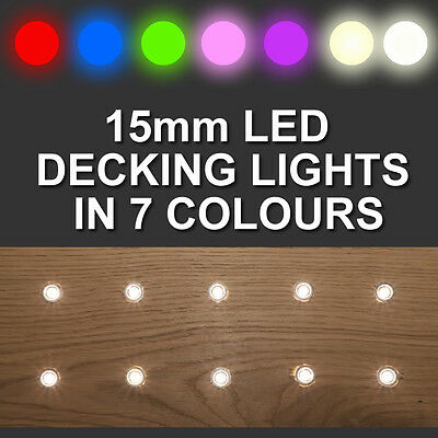 20 x 15mm LED Deck/Decking/Plinth/Kickboard/Recessed Kitchen/Garden Lights Kit